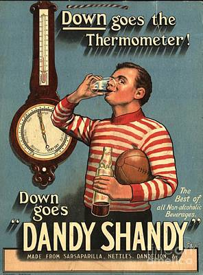 1920s Uk Dandy Shandy Sarsaparilla Art Print by The Advertising Archives
