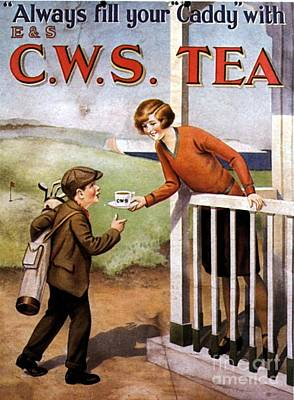 1920s Uk Tea Golf Cws Art Print by The Advertising Archives