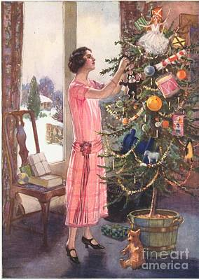 Drawing -  1920s Uk Trees Decorations Womens by The Advertising Archives