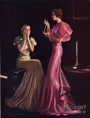 1930s Uk Womens Evening Gowns Dresses Art Print by The Advertising Archives