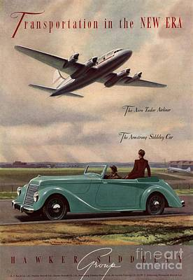 1940s Uk Aviation Hawker Siddeley Cars Print by The Advertising Archives