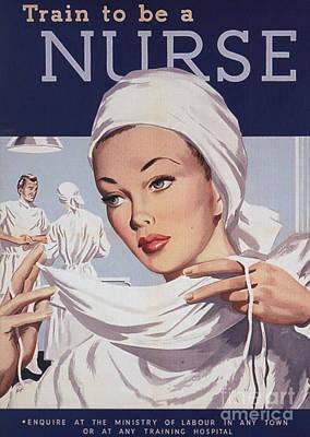 1940s Uk Nurses Recruitment World War Art Print