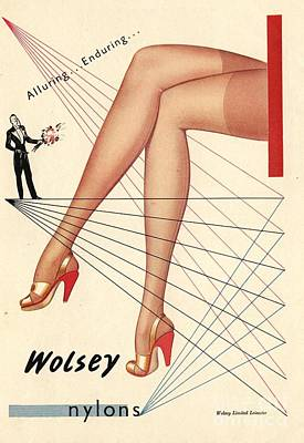 1940s Uk Wolsey Womens Hosiery Art Print by The Advertising Archives