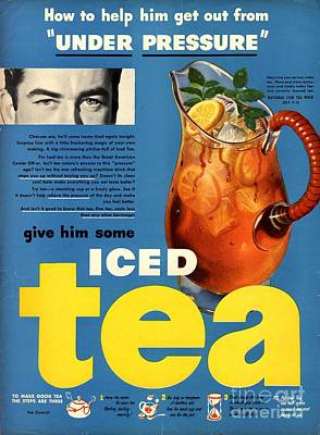 Drawing -  1950s Usa Iced Tea by The Advertising Archives