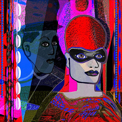 Painting -   224 - Mardi Gras   by Irmgard Schoendorf Welch