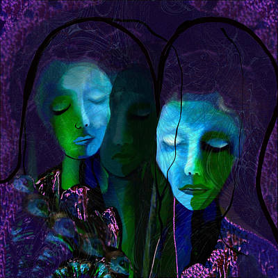 Thoughts Digital Art -  236 - The Griefing Women by Irmgard Schoendorf Welch