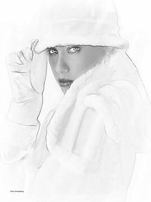 # 3 Adriana Lima Portrait. Art Print