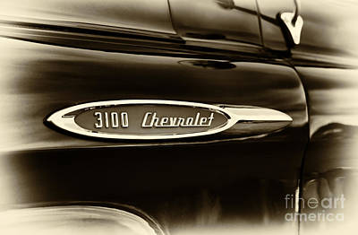 Truck Photograph -  3100 Chevrolet Truck Sepia by Tim Gainey