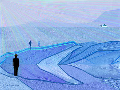 Twilight Zone Painting -   333 - The Cold  by Irmgard Schoendorf Welch