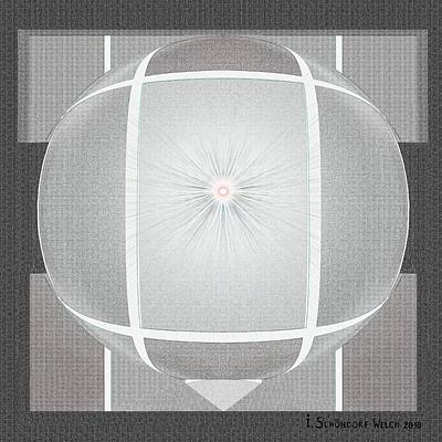 Sun Rays Digital Art -  357 - White And Black Abstract  1   by Irmgard Schoendorf Welch