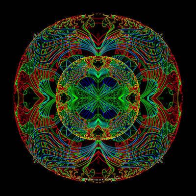 Inuu Digital Art -   491 - Lucid Mandala by Irmgard Schoendorf Welch