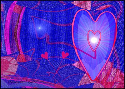0rnamental Digital Art -   501 - Blue Heart   by Irmgard Schoendorf Welch