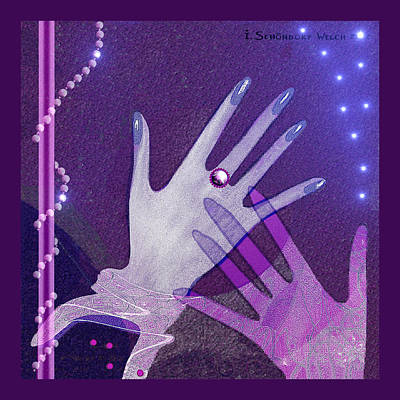 539 - Hands Art Print by Irmgard Schoendorf Welch