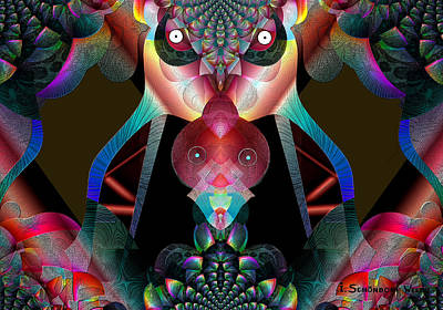 0rnamental Digital Art -  561 -  The  Great Insect   by Irmgard Schoendorf Welch