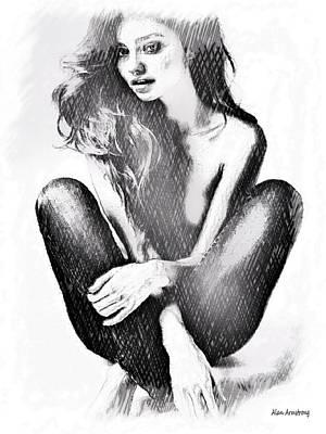 # 6 Miranda Kerr Portraits Art Print