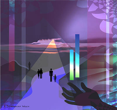 Monolith Digital Art -  798 -   Surreal  Walk  Into Magic by Irmgard Schoendorf Welch