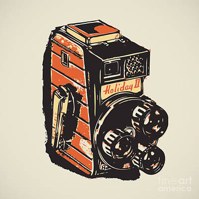 8mm Digital Art -  8mm Vintage Camera by Igor Kislev