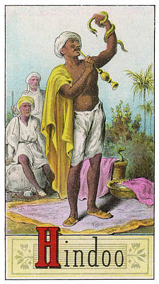 A Hindu Snake Charmer Art Print by Mary Evans Picture Library