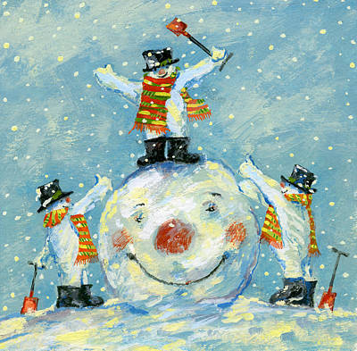 Winter Fun Painting -  A Job Well Done  by David Cooke