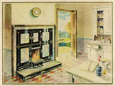 Grate Drawing -  A Kitchen, Complete With Triplex by Mary Evans Picture Library