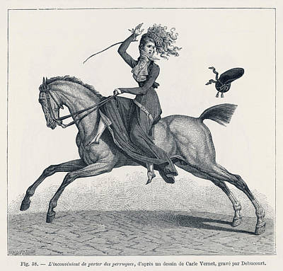A Lady Riding Sidesaddle  Discovers Art Print