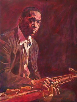 Jazz Painting Royalty Free Images -  A Love Supreme - Coltrane Royalty-Free Image by David Lloyd Glover