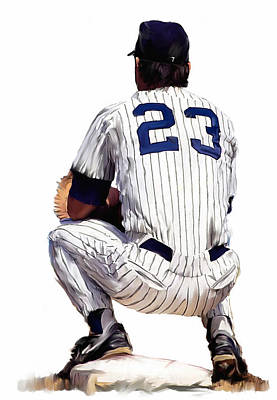Painting -  A Moment To Remember II Don Mattingly  by Iconic Images Art Gallery David Pucciarelli