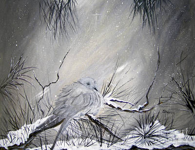 Snow Drifts Painting -  A Peaceful Christmas Morning by Sharon Burger