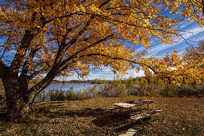 Photograph -  A Place To Enjoy Fall by Scott Bean