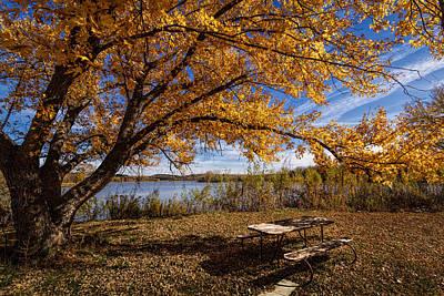 Photograph -  A Place To Enjoy Fall by Scott Bean