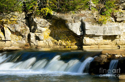 Photograph -  A Quiet Place  Waterfall by Peggy Franz