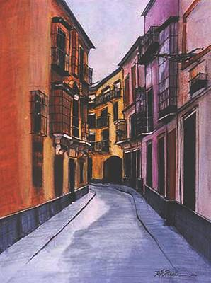 A Street In Seville Spain Art Print