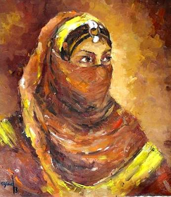 Painting -  A Woman by Negoud Dahab