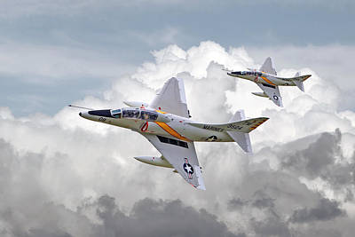 Usmc Photograph -  A4 - Skyhawks by Pat Speirs