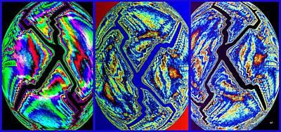 Digital Art -  Abstract Fusion 245- Lightning Lights by Will Borden