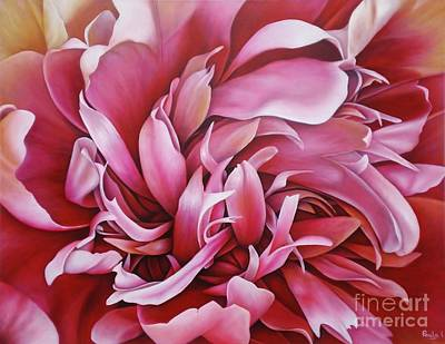 Painting -  Abstract Peony by Paula Ludovino