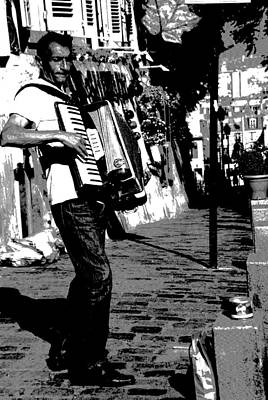 Photograph -  Accordioniste by Jacqueline M Lewis
