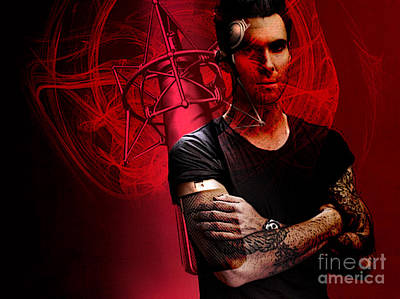 Poster Mixed Media -  Adam Levine by Marvin Blaine