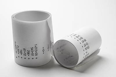 Ball Pen Work Photograph -  Adding Machine Tape by Donald  Erickson