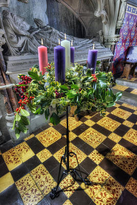Church Display Photograph -  Advent Wreath by Ian Mitchell