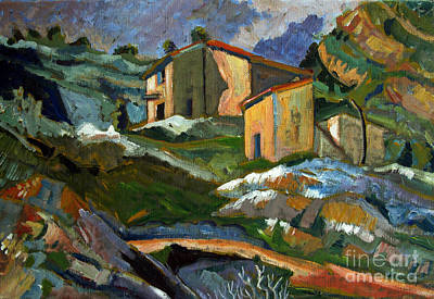 After Houses At The L'estaque - Paul Cezanne Original by Charlie Spear
