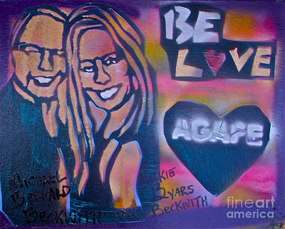 Conscious Painting -  Be Agape Love by Tony B Conscious