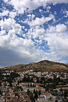 Albaicin Hill From The Palaces Of The Alhambra Original