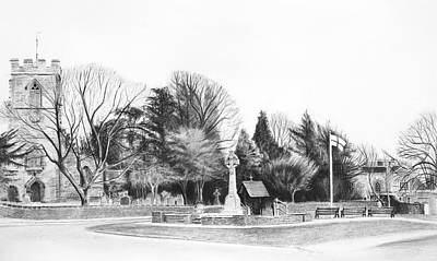 Drawing -  Aldridge Parish Church by Lynn Hughes