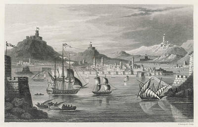 Algiers  Viewed From The Sea Art Print by Mary Evans Picture Library
