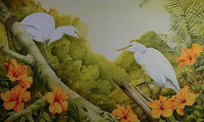 Painting -  Aloha Kakahiaka by Charles Owens