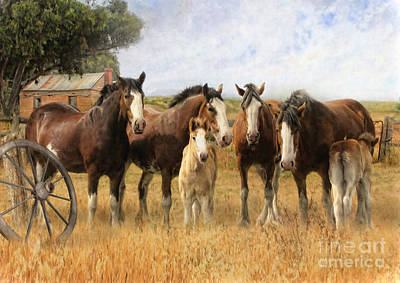 Wagon Mixed Media -  Always And Forever by Trudi Simmonds