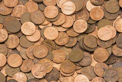 Photograph -  American Pennies by Keith Webber Jr