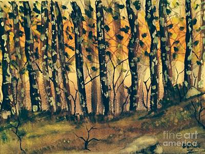 Painting -  American Sycamore Trees by Denise Tomasura