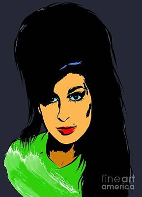 Amy  Winehouse Art Print by Andrzej Szczerski